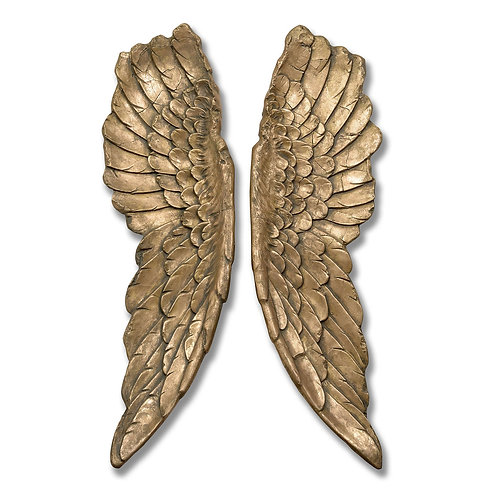 Isabella Gold Large Angel Wings