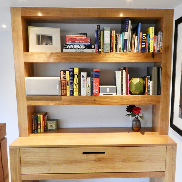 Bookcase with integral piano