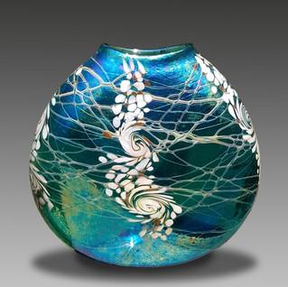Glass Vase by Vines Art Glass