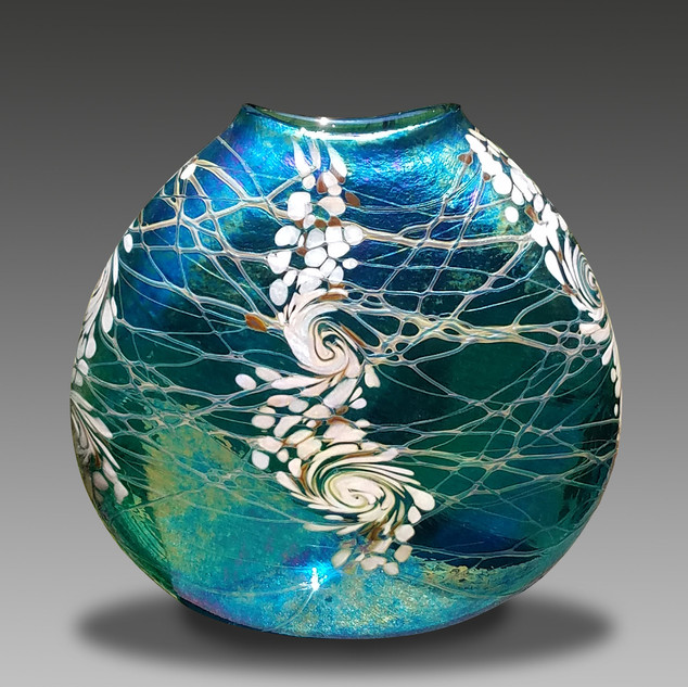 Glass Vase by Vines Art Glass