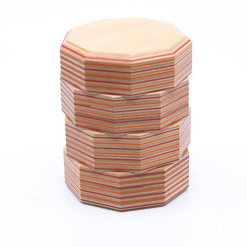 Stacking Tray Set with Lid by Takizawa Plywood Labratory