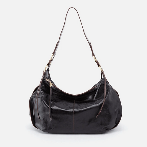 Lennox Shoulder Bag in Black by HOBO