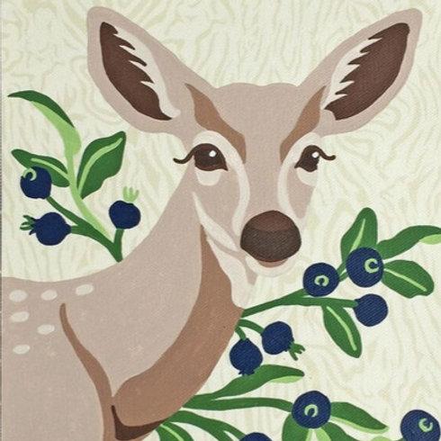 Deer with Huckleberries Paint-by-Number Kit by Elle Crée