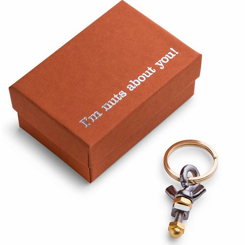 I'm Nuts About You Key Ring by Dan Forth