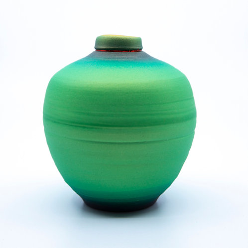 Small Green Pot by Tom Krueger