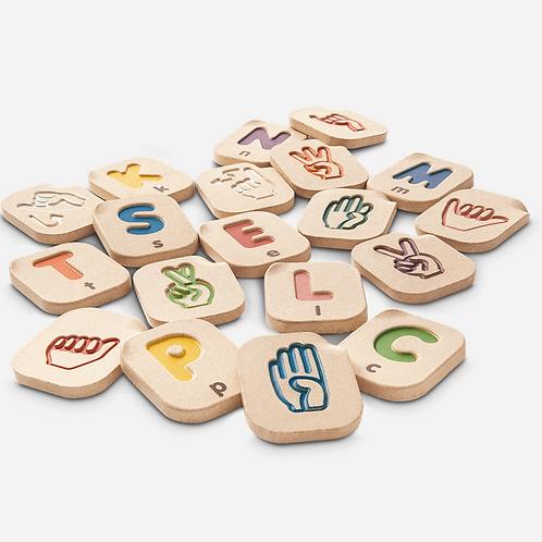 Hand Sign Alphabet Tiles by PlanToys