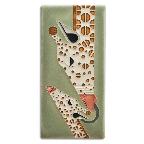 4x8 Giraffe & A Half Tile by Charley Harper for Motawi Tileworks