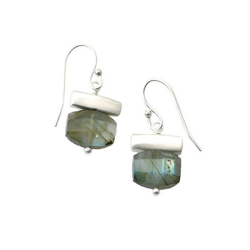 Stone Bar with Labradorite Earrings by Philippa Roberts