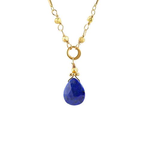 Azure Lapis Tiny Drop Necklace by Alicia Van Fleteren