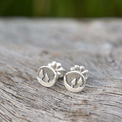 Conifer Couple Post Earrings by Beth Millner