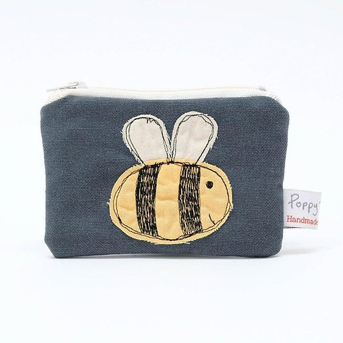 Embroidered Busy Bee Small Useful Purse by Poppy Treffry