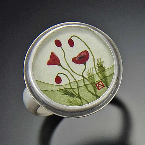 Poppy Ring by Ananda Khalsa