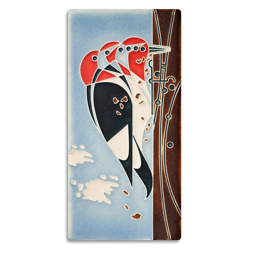 4x8 Headbanger Tile by Charley Harper for Motawi Tileworks