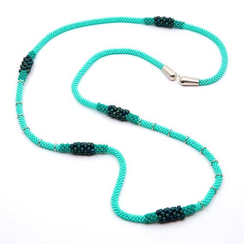 Turquoise Degrade Necklace by Claudia Fajardo