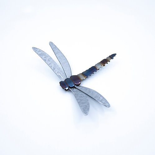 Small Steel Dragonfly by John Running