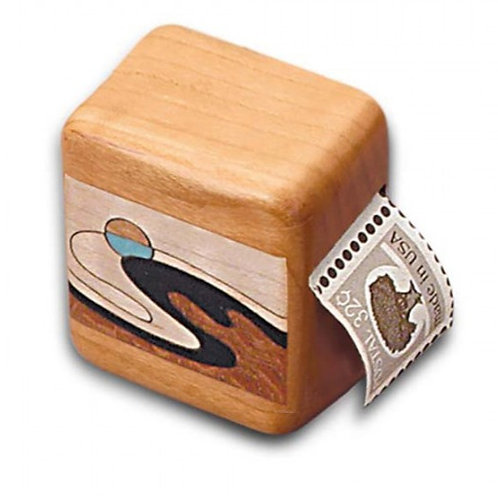 Wave Inlay Cherry Stamp Box by Heartwood Creations