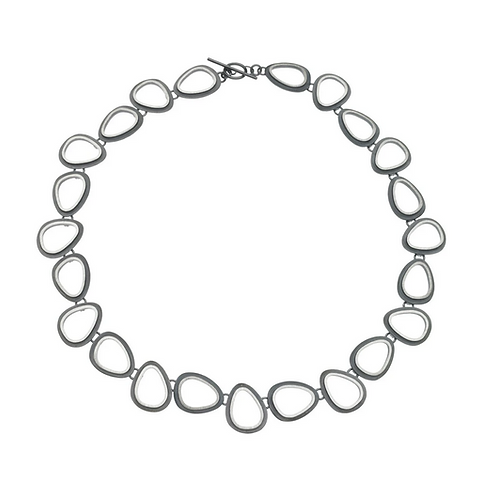 Eclipse Organic Ovals Necklace by Heather Guidero
