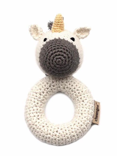 Unicorn Crocheted Ring Rattle by Cheengoo