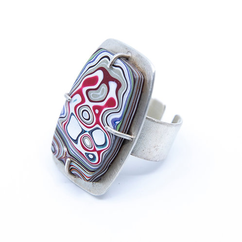 Fordite Ring by Lulu Bug