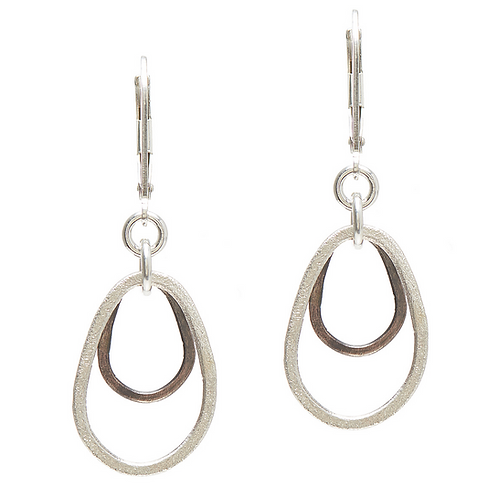 Textured Teardrop Earrings by J & I -  WPZ670E