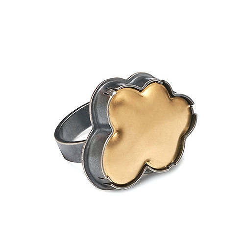 Vermeil Cloud Ring by Lisa Crowder
