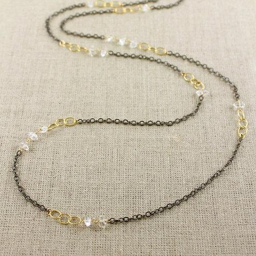 Herkimer Diamond Long Necklace by Alicia Van Fleteren