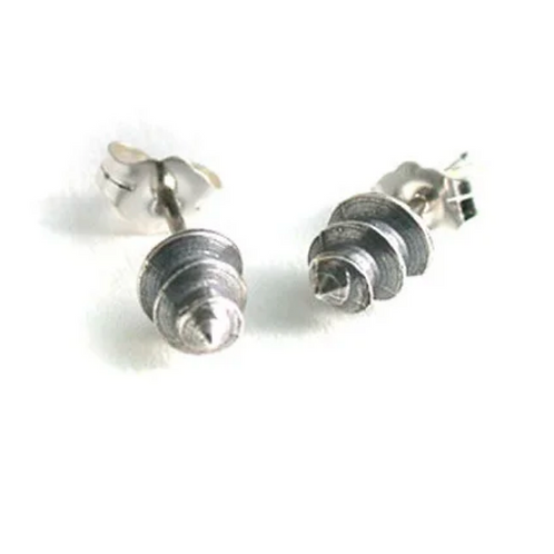 Sterling Screw Tip Post Earrings by Connie Verrusio