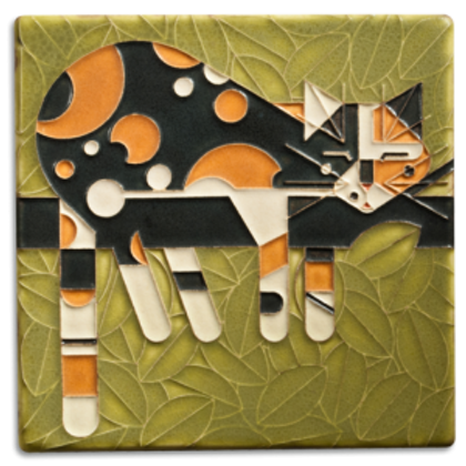 6x6 Limp on a Limb Tile by Charley Harper for Motawi Tileworks