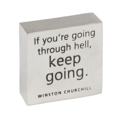 Keep Going Paperweight by Danforth