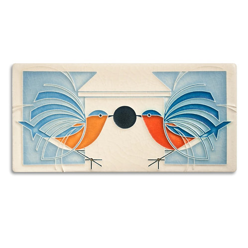 4x8 Homecoming Tile by Charley Harper for Motawi Tileworks