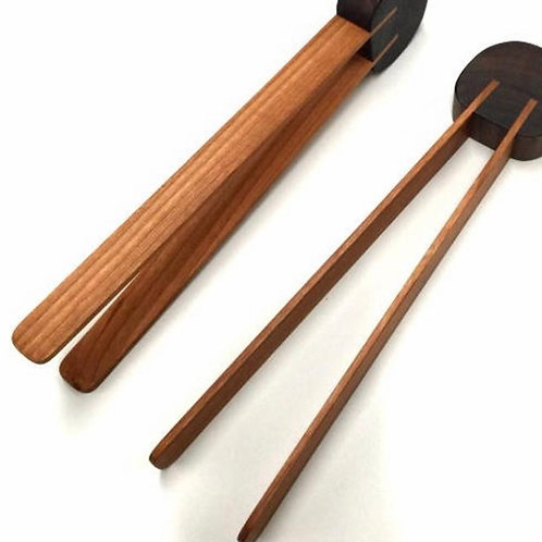 Cherrywood Toaster Tongs by Doug Haley