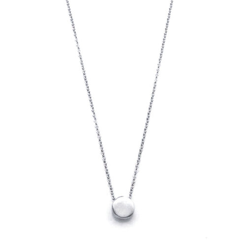 "Hope 16"" Tiny Circle Silver Necklace by Philippa Roberts"