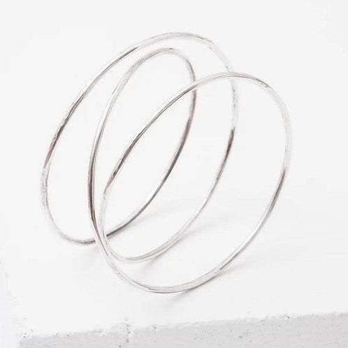 Medium Silver Slinky Bracelet by Zuzko