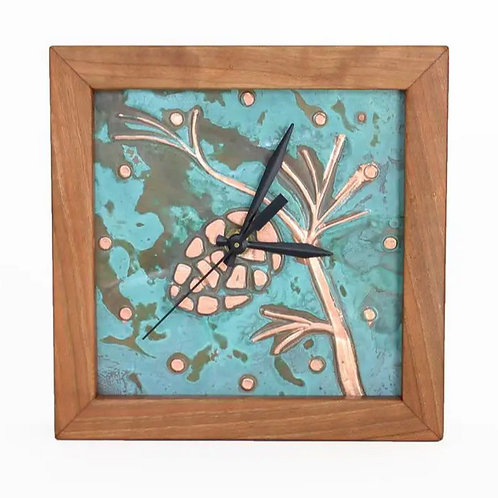 Pinecone Box Clock by Sabbath Day Woods