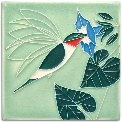 6x6 Little Sipper Tile by Charley Harper for Motawi Tileworks