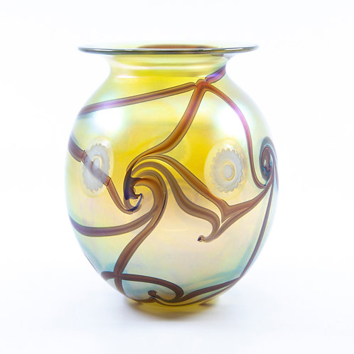 Medium Art Glass Vase by Robert Eickolt