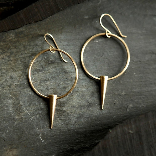 Small Spike Hoop Earrings by Tiny Anvil
