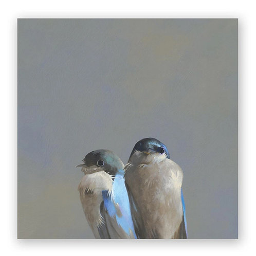 10 x 10 Swallow Pair Panel Wings on Wood by The Mincing Mockingbird