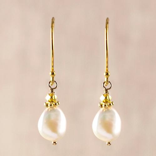 Aurora Tiny Pearl Earrings by Alicia Van Fleteren