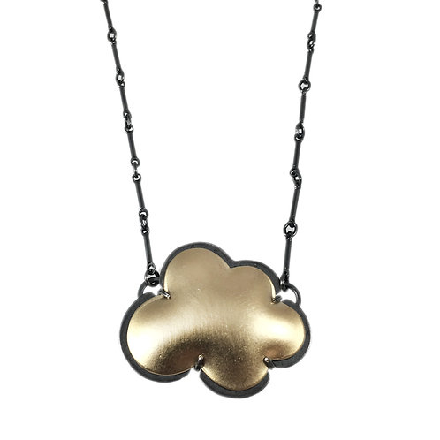 Vermeil Tiny Cloud Necklace by Lisa Crowder