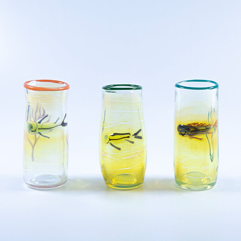 Blown Glass Fish Shot Glasses by OT Glass