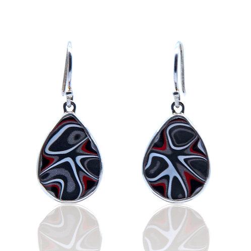 Teardrop Fordite Earrings by Starborn Creations