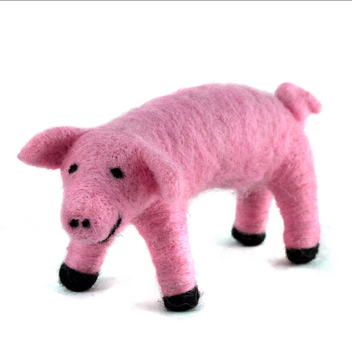 Hand Felted Wool Farm Animal Ornaments by Mayan Hands