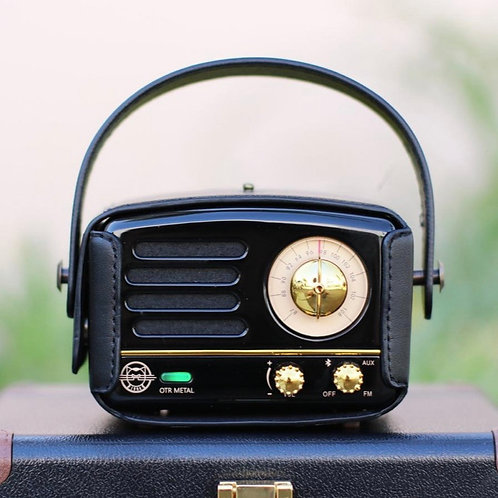 Muzen OTR Metal Radio - Jet Black