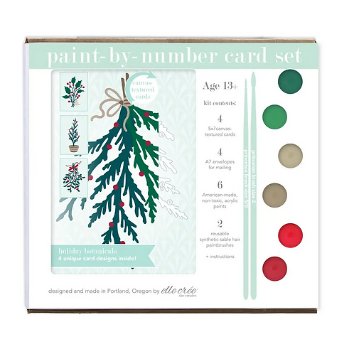 Paint-By-Numbers Card Set by Elle Crée