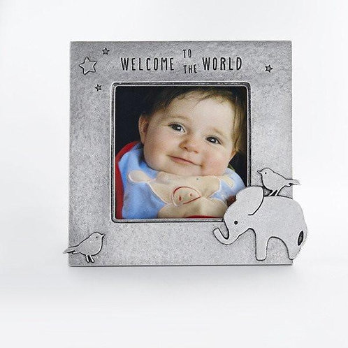 Welcome To The World Elephant Picture Frame by Beehive Handmade