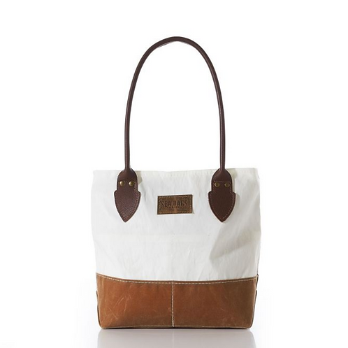 Chebeague Tan Handbag with Sail Cloth by Sea Bags