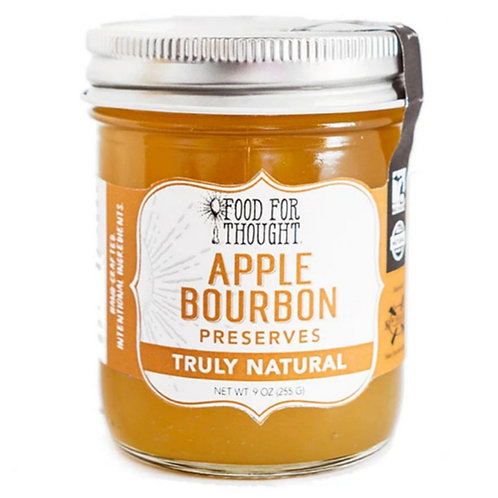 Truly Natural Apple Bourbon Preserves by Food for Thought