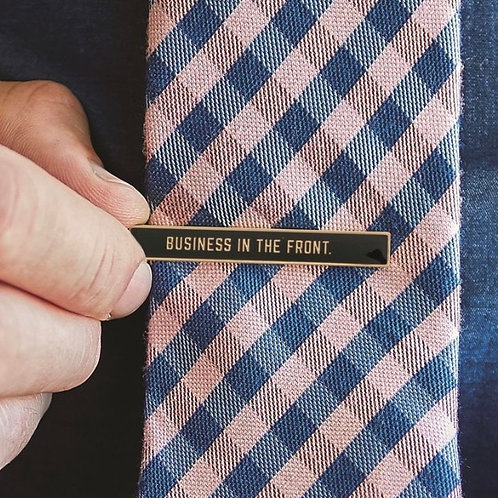 Business In The Front Tie Bar by JC & Rollie