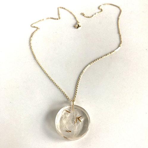 Eco-Resin Small Moon Dandelion Pendant by Belart